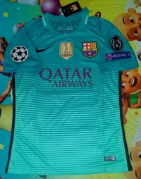Jersey Barcelona 3rd 2016/2017 Full patch UCL