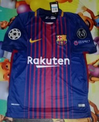 Jersey Barca home 2017/2018 Full patch UCL
