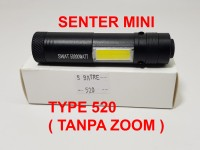 Senter mini SWAT 50000 watt + emergency COB type P520 ( tanpa zoom )