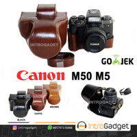 Leather Case CANON M50 M5 Tas Casing Bag Kamera Sarung Kulit
