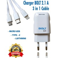 Charger Bolt TC Bolt Fast Charger Original Usb iphone Micro Type C