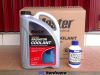 MASTER RADIATOR COOLANT PREMIX RED MERAH READY TO USE GALON - FLUSH