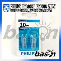 Philips Halogen capsule lamps Ess Capsule 20W G4 12V CL 2BC/10 Warm white
