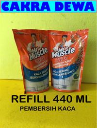 Pembersih Kaca dan Stainless Mr Muscle Clear Liquid Blue REFILL 440ML