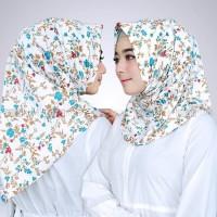 Jilbab Instan Satin Velvet Twist Salwa Grass Motif Bunga Rumput Unik