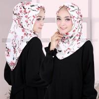 Jilbab Instant Printing Salwa Motif Bunga Sakura HIgh Quality