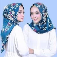 Jilbab Instan Satin Velvet Twist Salwa Motif Bunga krisan Cantik