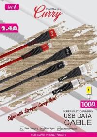 JETE Kabel Data Kabel Charger Type C Tipe C 100cm Kabel Jete Curry