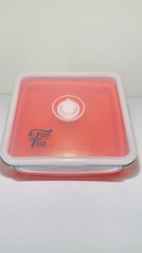 Lunch Box Kotak Bekal Makan Fleksible Silikon Kotak 1Lubang (lexngo)