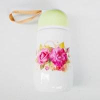 Botol Mug /gelas Tutup Hijau 400 cc Keramik
