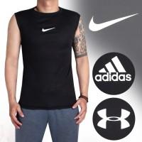 LEKBONG Baselayer Singlet Manset  , Baju Fitnes Gym NIKE ADIDAS