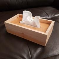 kotak kayu tempat tisu / wooden box tissue