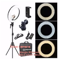 Ring Light LED RL18 Bi-Color Zomei Ringlight 2 Warna Ringlite Komplit