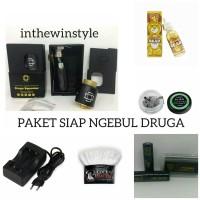 PAKET VAPE SIAP NGEBUL DRUGA SQUONK FREE BATERAI/COIL/KAPAS/LIQUID30ML