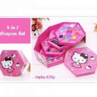 CRAYON STATIONARY SET ALAT MENGGAMBAR 4 in 1 CRAYON WARNA CAT