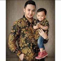 Couple Batik Ayah dan Anak 2-12 tahun Kemeja Anak Kemeja Batik Pria