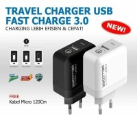 Travel Charger USB Fast Charge 3.0 Wellcomm