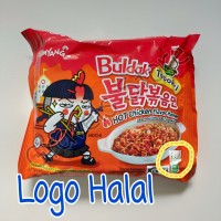 Logo HALAL - Samyang BULDAK TOPOKKI Chewy Hot Chicken Ramen