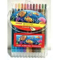 New Crayon Putar Kenko 24 warna / crayon murah