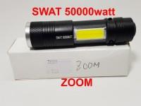 Senter mini ZOOM SWAT 50000 watt + emergency COB