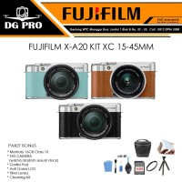 FUJIFILM X-A20 KIT XC 15-45MM PAKET 16GB - TAS CAMERA