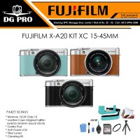 FUJIFILM X-A20 KIT XC 15-45MM PAKET LEATHER CASE 16GB - FUJI XA20