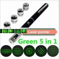 New Green Laser Pointer 5 Mata Lampu Senter Laser Hijau LED