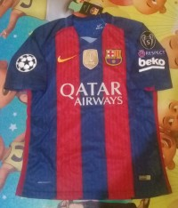 Jersey Barcelona Home 2016/2017 Full Patch UCL
