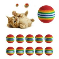 Paling Laku Rainbow Ball Bola Mainan Kucing Cat Kitty Dan Anjing Puppy