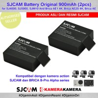 SJCAM Battery Original 2pcs for SJCam Brica BPRO AE (Baterai Cadangan)