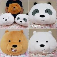 Imut Bantal Boneka Bare Bears Bear Panda Beruang Kepala