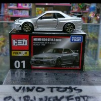 tomica premium 01 nismo nissan skyline r34 gt r z tune silver miniatur