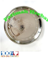 Nampan Bulat/Baki Stainless motif sederhana 0.6 mm 34 Cm