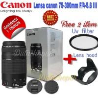 Lensa canon 75-300mm f/4-5.6 III full set -canon tele lens 75-300mm