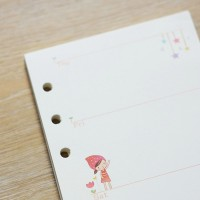 AJ03 Sunny Day Loose Leaf Binder Paper A6 Isi Ulang Binder Kertas A6