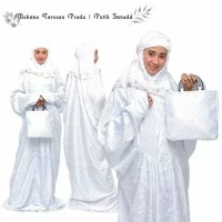 Mukena Muslim Muslimah Wanita Dewasa Terusan Bahan Sutra Paris Prada