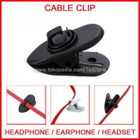 Penjepit Kabel Mic Microphone Handsfree Headset Clip On Cable Kancing