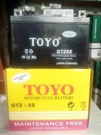 STOK TERBARU Aki Accu Motor TOYO GTZ5S MF