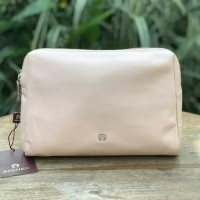 Aigner Leather Pouch Pink Pastel