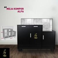 Meja Kompor Alfa Minimalis Dari Blockteak Kombinasi Keramik