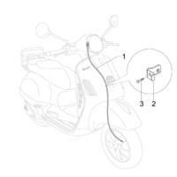 Kabel Spedo Speedometer Vespa gts 3v Original