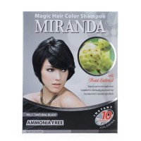 MIRANDA MAGIC HAIR COLOR SHAMPOO MS-1 NATURAL BLACK