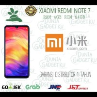 XIAOMI REDMI NOTE 7 RAM 4/64 GB GLOBAL VERSION GARANSI DISTRIBUTOR