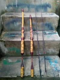 Batang Joran Pancing jigging/ japan style. Bahan dr bambu cendani.