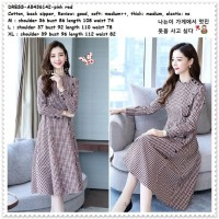 Long Dress Midi Gaun Pesta Lengan Panjang Wanita Korea Import AB436142