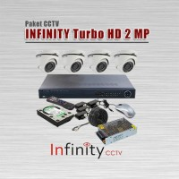 Paket CCTV INFINITY Murah, 4 Kamera HD 2 MP, Lengkap