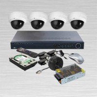 Paket CCTV IP CAM, INFINITY 3 MP, 4 Kamera Lengkap, NVR POE Port