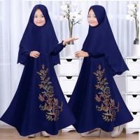 Gamis / Baju / Setelan Anak perempuan Muslim Bunga Syari 2in1 HQ