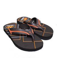 Sendal Jepit / Sandal Jepit Pria NEW ERA HRV Coklat Orange Size 41 43