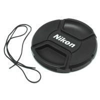 AEQG Penutup Lensa Kamera Nikon Lens Cap 77mm - Black